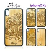 《Artiger》iPhone原木雕刻手機殼-神話系列(iPhoneX Xs)(鶴)