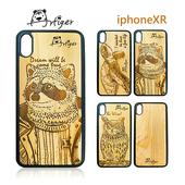 《Artiger》iPhone原木雕刻手機殼-動物系列2(iPhoneXR)(浣熊)