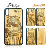 《Artiger》iPhone原木雕刻手機殼-動物系列2(iPhoneXR)(素面款)