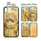 《Artiger》iPhone原木雕刻手機殼-動物系列2(iPhoneXs Max)(浣熊)