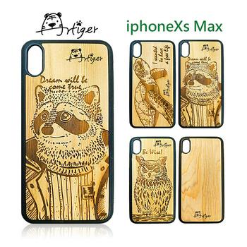 《Artiger》iPhone原木雕刻手機殼-動物系列2(iPhoneXs Max)(貓頭鷹)