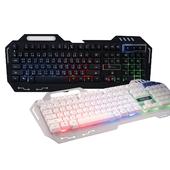 《Hong Jin 宏晉》紅軸手感有線電競鍵盤 HJ221(墮天使-黑色)