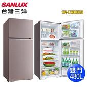 《SANLUX 台灣三洋》480公升雙門電冰箱SR-C480B1B(含拆箱定位)(香檳紫)