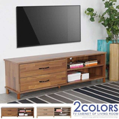 《Homelike》日和二抽電視櫃(二色)(柚木色)