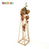《DecoBox》時尚紅金走道花架(2組)(多肉花架,走道花鐵架, 燭台, 立燈架)