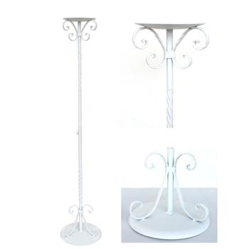 《DecoBox》經典高雅白色走道花架(2組)(多肉花架,走道花鐵架, 燭台, 立燈架)