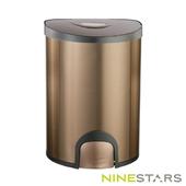 《美國NINESTARS》腳觸式自動掀蓋垃圾桶QDT-15-6