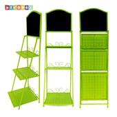 《DecoBox》北歐工業風螢光綠三層招牌層架(留言板, 招牌,花架, 花台)