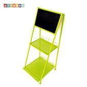 《DecoBox》北歐工業風螢光綠兩層招牌層架(留言板, 招牌,花架, 花台)