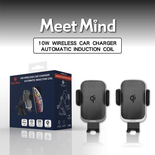 《Meet Mind》i Car線圈感應10W Qi認證無線充電車架(黑灰色)