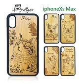 《Artiger》iPhone原木雕刻手機殼-家寵系列(iPhoneXs Max)(貓咪)