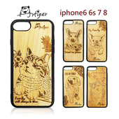 《Artiger》iPhone原木雕刻手機殼-家寵系列(iPhone6 6s 7 8)(法鬥)