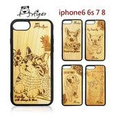 《Artiger》iPhone原木雕刻手機殼-家寵系列(iPhone6 6s 7 8)(臘腸)