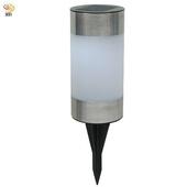 《月陽》圓柱太陽能充電式自動光控LED庭園燈草坪燈插地燈(5013B)