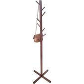 實木落地衣帽架(咖啡色 43X168cm)