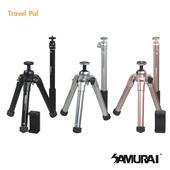 《SAMURAI》Travel Pal 旅遊型腳架(附自拍棒)(曜石黑)