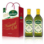 《Olitalia奧利塔》橄欖油禮盒1組 ;共2罐橄欖油 (1L/罐)