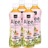 《萃樂口》蘆薈蜜桃綠茶(530ml*4瓶/組)