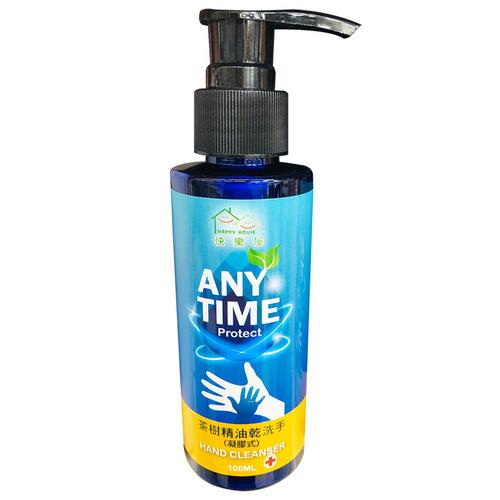 《快樂屋》茶樹精油乾洗手凝膠式(100ml/瓶)