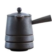 《SCENEAST》中式茶壺鐵銹快客杯一壺兩杯(壺H11*W15cm 杯:直徑9.3cm*H3.4cm 壺容)