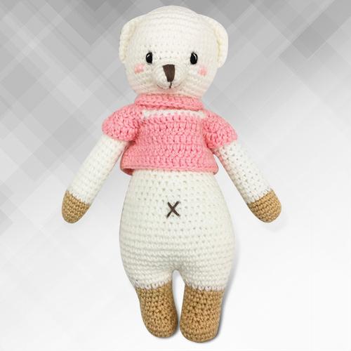 《Bobi》勾針娃娃-粉衣熊熊騎士-Little Knight Lizzie(30(H) /WT-209ACR-F-M)