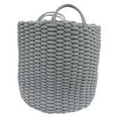 《halla malmo》北歐生活棉灰圓桶編織籃(小H33)