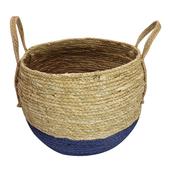 《halla malmo》北歐生活玉米&紙繩拼接收納籃(中H33)