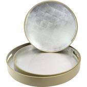 《SCENEAST》沉穩銀漆器-12層無毒漆圓托盤(小-T003-1TP)