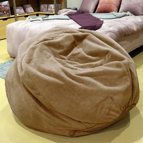 《Novella Amante》現代奢華風絨毛懶骨頭沙發 110*110*48cm(ZX17011 - 深褐色 (面料6))