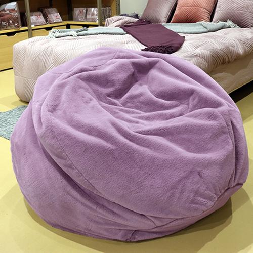 《Novella Amante》現代奢華風絨毛懶骨頭沙發 110*110*48cm(ZX17011 - 紫色 (面料6))