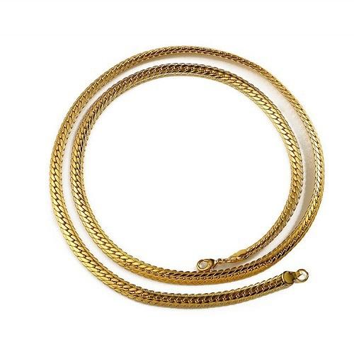 ★結帳現折★《嘻哈潮牌》蛇骨造型金項鍊(金)