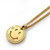 《嘻哈潮牌》微笑好寶寶金項鍊(金)