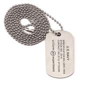 《嘻哈潮牌》Uniform Experiment Necklace閃電83號軍牌身份牌項鍊(銀)