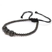 手工編織手鍊-金屬系列(槍黑色)