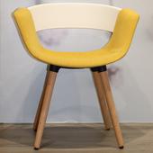 《halla malmo》HUG Chair 造型椅(白/黃)