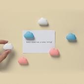 《QUALY》朵朵雲兒磁鐵-6入組(藍粉白)