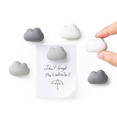 《QUALY》朵朵雲兒磁鐵-6入組(黑灰白)