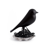 《QUALY》雀兒巢-迴紋針座(黑)