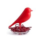《QUALY》雀兒巢-迴紋針座(紅)