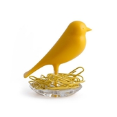 《QUALY》雀兒巢-迴紋針座-黃
