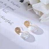 典雅珍珠耳環(大圓)