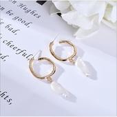 典雅珍珠耳環(波浪)