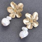 大花珍珠耳環(1對)