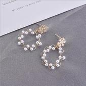 花環典雅珍珠耳環(1對)