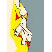 《晶瓷畫》抽象線條32HTJC(1)-B(50X70X3.5cm)