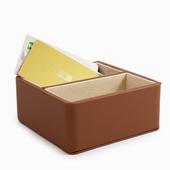 《Novella Amante》二格小收納盒(杏褐色)