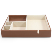 《Novella Amante》桌面收納盒(杏褐色)
