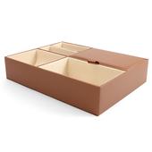 《Novella Amante》掀蓋收納盒(杏褐色)