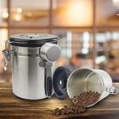 《304不鏽鋼》密封咖啡儲物罐 排氣設計 保鮮 防潮1500ml $359
