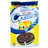 《Cream-O》巧克力三明治餅乾-140g/包(檸檬-即期2020.05.17)